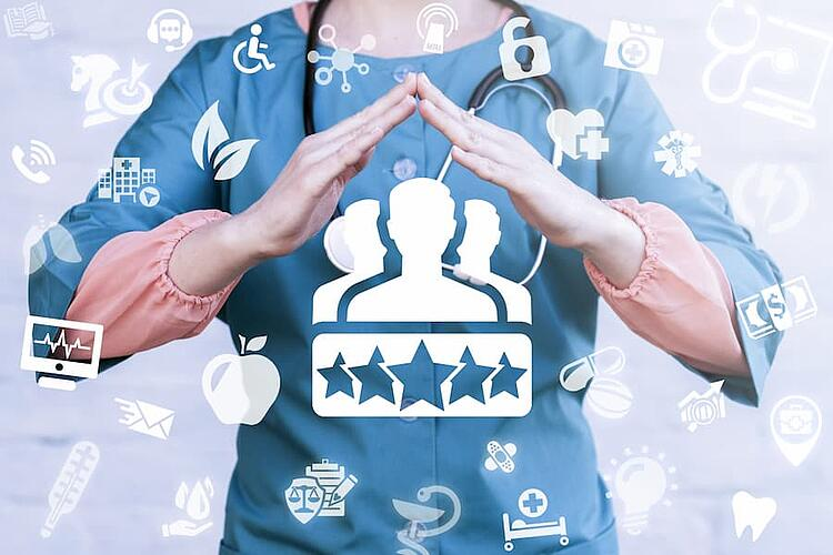 Healthcare loyalty graphic