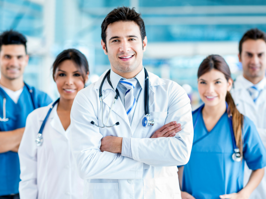 Diverse group of healthcare providers