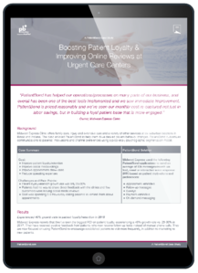 Urgent Care Loyalty Case Study Tablet